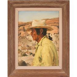 Clarence McGrath, oil on masonite