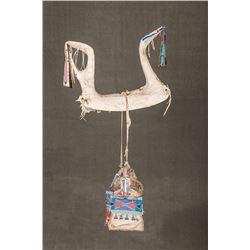 Crow Beaded Woman's Saddle and Stirrups