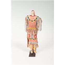 "Apache Beaded Doll, 13 ¾"" tall"