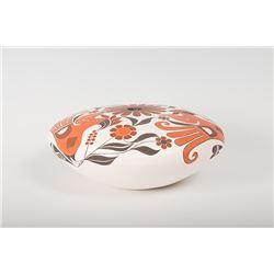 """Acoma Pueblo Seed Jar By Barbara and Joseph Cerno, 5 ½"""" x 13 ½"""""""