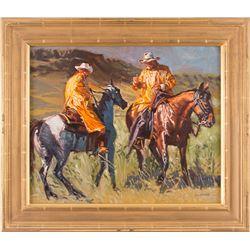Glen Edwards, oil on canvas