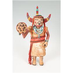 """Hopi Mano Buffalo Kachina 20"""" tall"""