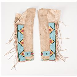 Northern Plains Beaded Child's Leggings together with a Single Woman's Legging