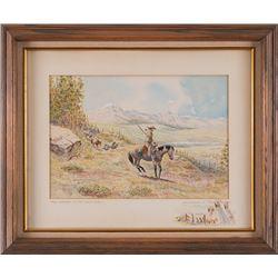 Byron B. Wolfe, original watercolor