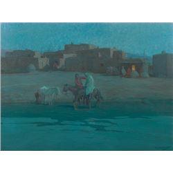 Oscar Berninghaus, oil on canvasboard