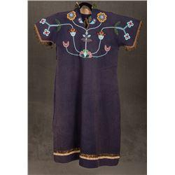 """Crow Beaded Woman's Dress, 45"""" long"""