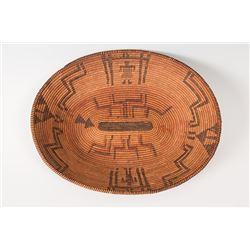 "Western Apache Pictorial Basket, 13"" x 10"""
