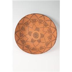 "Western Apache Basketry Tray, 17"" x 5"""