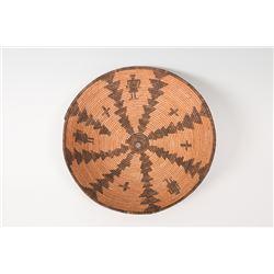"Western Apache Basketry Tray, 14"" x 3 ½"""
