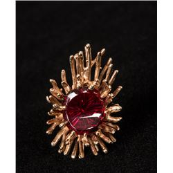"Charles Loloma, 1 ½"" x 1"" woman's ring"