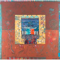 Dan Namingha, oil on canvas