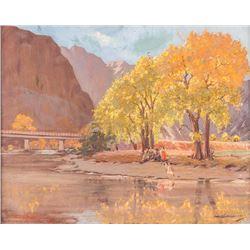 Oden Hullenkremer, oil on canvas
