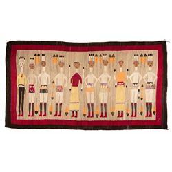 "Navajo Weaving, 3'7"" x 6'9½"""