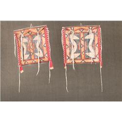 "Matching pair of Northern Plains Parfleche Bags, 13 ½"" x 13 ½"""