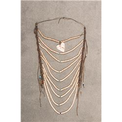 """Northern Plains Beaded Heishi Loop Necklace, 25"""" x 11"""""""