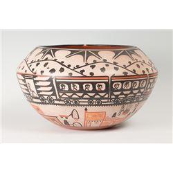"Santo Domingo Bowl by Robert Tenorio, 9 ½"" x 17"""