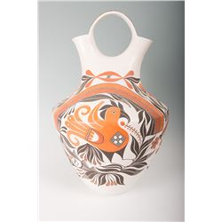 """Acoma Wedding Vase by Goldie Havah, 26"""" tall x 17"""""""