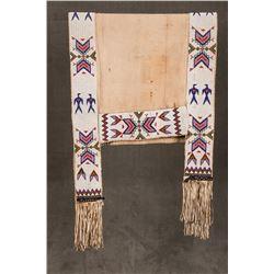 """Sioux Beaded Saddle Drape, 66"""" x 27 ½"""""""