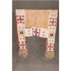 """Sioux Beaded Saddle Blanket with Bells and Fringe, 71"""""""