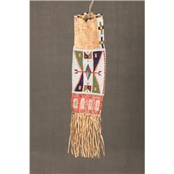 """Sioux Beaded and Quilled Pipebag, 31"""" long"""