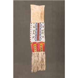 """Sioux Beaded and Quilled Pipebag, 33"""" long"""