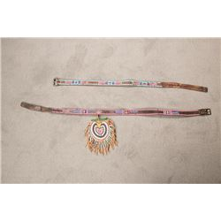 Pair of Crow Beaded Panel Belts