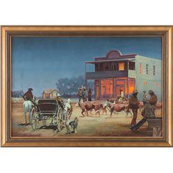 James Ralph Johnson, oil on board