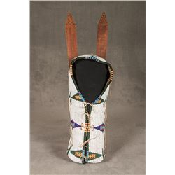 """Cheyenne Fully Beaded Cradle With Original Boards , 27"""" long"""