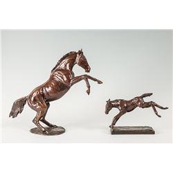Kerry Millikin, two piece bronze