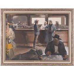 Harold Von Schmidt, oil on canvas