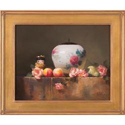"""Jei Wei Zhou, 16"""" x 20"""" oil on canvas"""