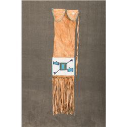 "Blackfeet Beaded Pipebag, 22"" long"