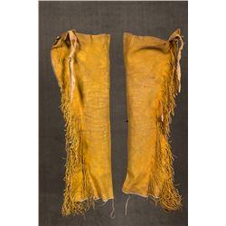 """Kiowa Beaded Man's Leggings, 32"""" long"""