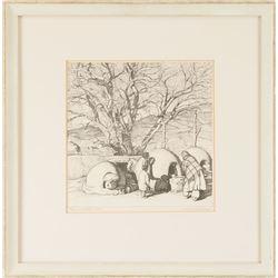 Ernest Martin Hennings, lithograph