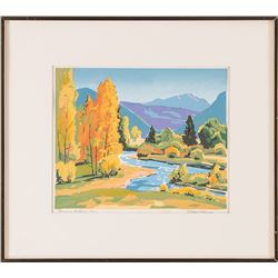 Alfred Wands, two serigraphs