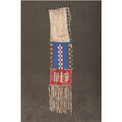 """Sioux Beaded and Quilled Pipebag, 18"""" long"""