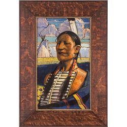 Hernando Villa, two oil paintings