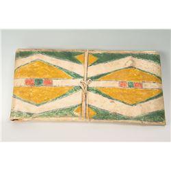 """Crow Painted Parfleche Envelope, 26 ½"""" x 13 ½"""""""