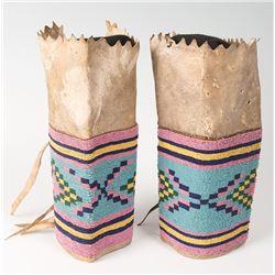 """Blackfeet Beaded Woman's Leggings, 10"""" long"""