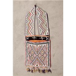 """Ojibwa Loom Beaded Bandolier Bag, 39"""" x 16"""""""