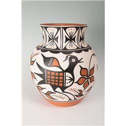 """Santo Domingo Pueblo Jar by Thomas Tenorio, 13 ½"""" x 12"""""""
