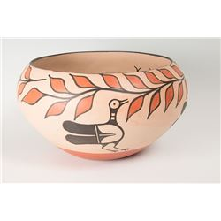 Santo Domingo Bowl by Arthur & Hilda Coriz, 9  x 15 ½