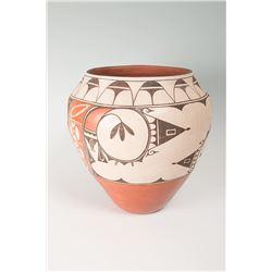 "Zia Pueblo Pottery Jar by Helen Gachupin, 12"" x 13"""