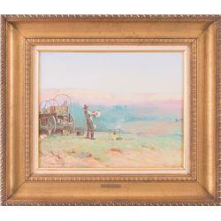 Clay Allison, oil on canvas