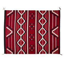 "Navajo Chief's Style Wearing Blanket, 5'8"" x 4'5"""