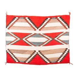 """Navajo Transitional Chief's Blanket, 3'8"""" x 4'11"""""""