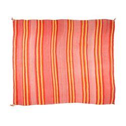 "Navajo Wearing Blanket, 5'3"" x 4'"