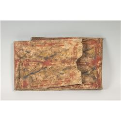 Southern Plains Painted Shield Cover and Painted  Parfleche Envelope