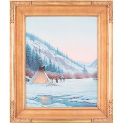Dustin L. Lyon, oil on canvas