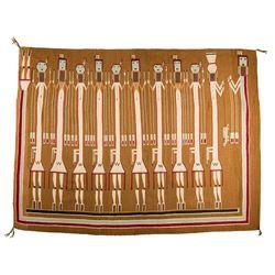 "Navajo Weaving, 6'10"" x 5'1"""